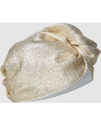 Taller Marmo - Vegas Residency Silk-blend Lurex Turban - Lyst