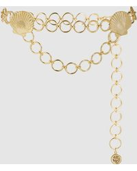 RIXO London Darcie Gold-plated Chain Belt - Multicolor