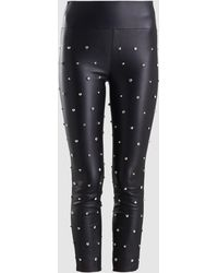 60f01a048bc64f Philosophy Petite Studded Ponte Leggings in Black - Lyst