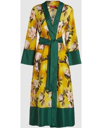 F.R.S For Restless Sleepers - Floral Print Robe Coat - Lyst