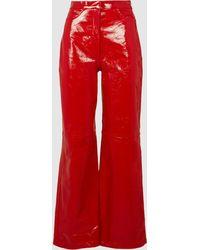 Madiyah Al Sharqi High-waisted Flared Gloss-effect Leather Pants