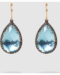 Larkspur & Hawk - Sophia White Quartz Blue Drop Earrings - Lyst
