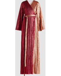 Madiyah Al Sharqi - Two-tone Sequinned Gown - Lyst