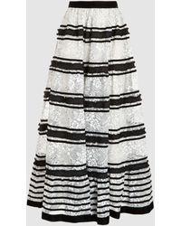 Huishan Zhang Victoria Lace Maxi Skirt - Black