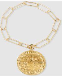Alighieri Il Leone Gold-plated Coin Charm Bracelet - Metallic