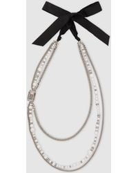 Lanvin - Embellished Tiered Silver-tone Necklace - Lyst