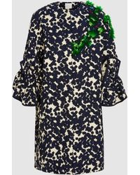 Delpozo - Embroidered Ruffle Coat - Lyst