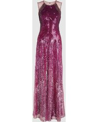 Jenny Packham Como Degrade Sequin Tulle Gown - Pink