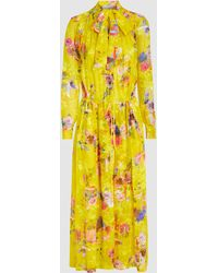 Preen By Thornton Bregazzi - Lupin Floral Silk-blend Devoré Midi Dress - Lyst