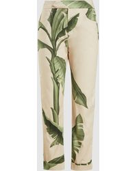 Johanna Ortiz Cropped Printed Stretch-cotton Pants - Green