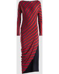 Zero + Maria Cornejo Lui Wide Stripe Dress - Red