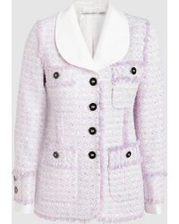 Alessandra Rich - Mikado Collar Tweed Jacket - Lyst