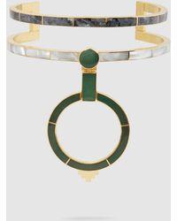 Monica Sordo - Yma Multi-stone 21kt Gold-plated Choker - Lyst