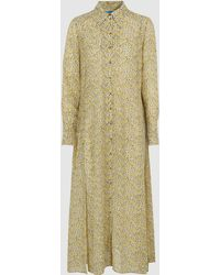 M.i.h Jeans Maggie Floral Silk-georgette Midi Dress - Yellow