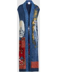 Stella Jean - Embroidered Mohair-blend Sleeveless Cardigan - Lyst