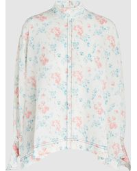 JOSEPH - Antoine Floral-print Silk Top - Lyst