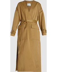 3.1 Phillip Lim Long Sleeve Satin Overcoat - Multicolour