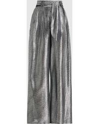 Christopher Kane Lamé Wide-leg Trousers - Metallic