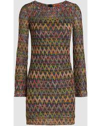 Missoni - Metallic Crochet-knit Tunic - Lyst