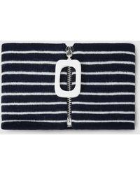JW Anderson - Striped Merino Wool Collar - Lyst