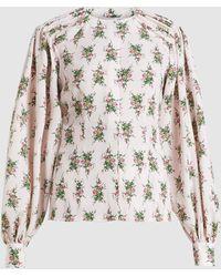 Emilia Wickstead Margot Floral-print Crepe Blouse - Pink
