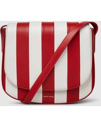 Mansur Gavriel - Striped Leather Crossbody Bag - Lyst