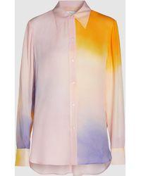 A.L.C. Jyne Long Sleeve Silk Shirt - Multicolour