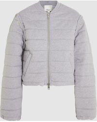 3.1 Phillip Lim - Quilted French Terry Bomber Jacket - Lyst