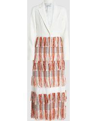 3.1 Phillip Lim Fringed Tailored Longline Blazer - White