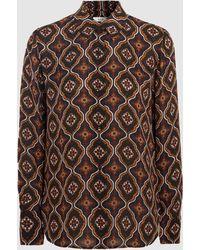A.L.C. - Aubrey Printed Silk Blouse - Lyst