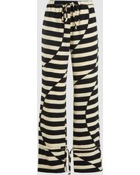 Stine Goya Striped Drawstring Pants - Black