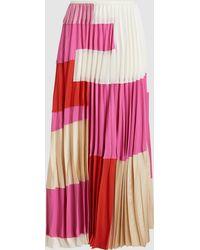 Marni - Washed Crepe Midi Skirt - Lyst