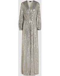 Jenny Packham Tasman Degrade Sequin Silk Gown - Metallic