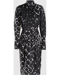 Marc Jacobs - Abstract Snakeskin Print Turtleneck Silk Dress - Lyst