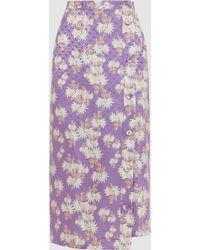 Rachel Comey - Uvalde Floral-print Silk-jacquard Culottes - Lyst