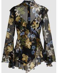 Erdem - Wanda Floral-print Silk Blouse - Lyst