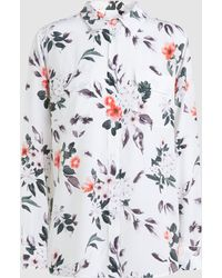 Equipment - Slim Signature Printed Washed-silk Shirt - Lyst