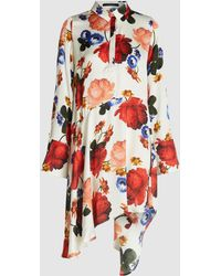 Mother Of Pearl - April Floral Print Asymmetric Shirtdress - Lyst