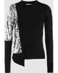 OSMAN - Adams Sequinned Wool-blend Sweater - Lyst