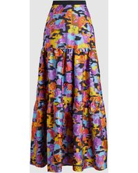 Mary Katrantzou Bridge Fil Coupe Pop Art Gown Skirt - Blue