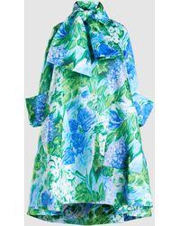 Richard Quinn - Floral Satin Dress Coat - Lyst