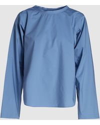 Sofie D'Hoore Airforce Poplin Cotton Top - Blue