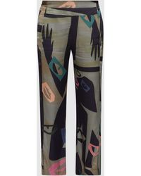 Palmer//Harding Lock Printed Straight-leg Trousers - Multicolour