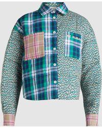 Natasha Zinko - Patchwork Printed Cotton Shirt - Lyst