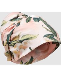F.R.S For Restless Sleepers - Floral Print Silk Turban - Lyst