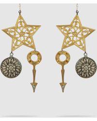 Erickson Beamon Crystal & Gold-plated Breaker Of Chains Earrings - Metallic
