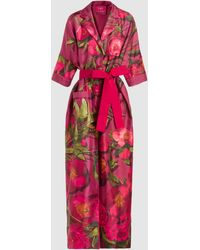 F.R.S For Restless Sleepers Eurinome Floral Robe - Red