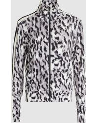 Norma Kamali Side Stripe Zip-front Stretch Turtleneck Jacket - Multicolor