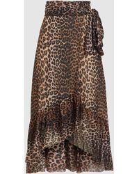 Ganni Tilden Mesh Maxi Skirt - Brown