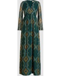 DHELA - Silk-blend Chiffon Maxi Dress - Lyst